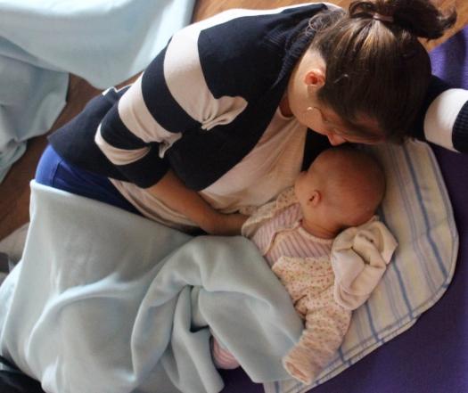 baby sleep training coaching yoga calm relax